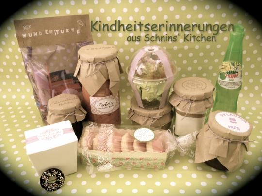 Schnin's Kitchen: Papageienkuchen, Soljanka, Mini-Amerikaner, Schoko-Plätzchen, Schoko-Brotaufstrich, Pflaumenmus, Eierkuchenmix mit Apfelmus & eine Süßigkeiten-Wundertüte