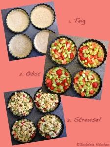 Schnin's Kitchen: Erdbeer-Rhabarber-Tartelettes