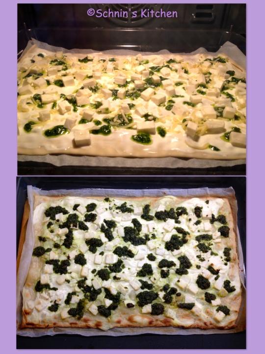 Schnin's Kitchen: Flammkuchen mit Bärlauch-Pesto & Feta