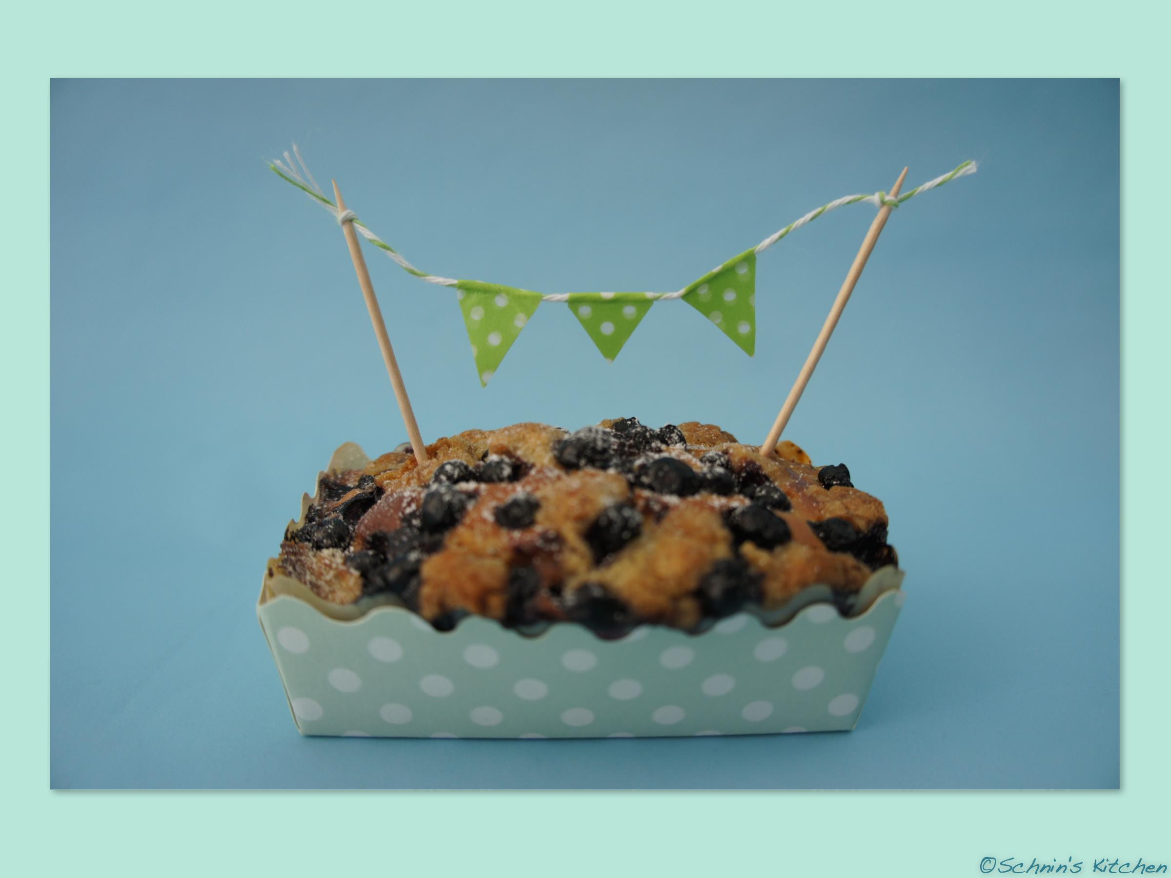 Blaubeer Kasekuchen Muffins Mit Minz Streuseln Schnin S Kitchen