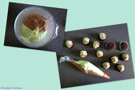 Schnin's Kitchen: Mint Chocolate Mini Cupcakes