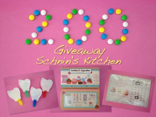 Schnin's Kitchen: 200 Giveaway