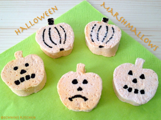 Schnin's Kitchen: Halloween Pumpkin Marshmallows