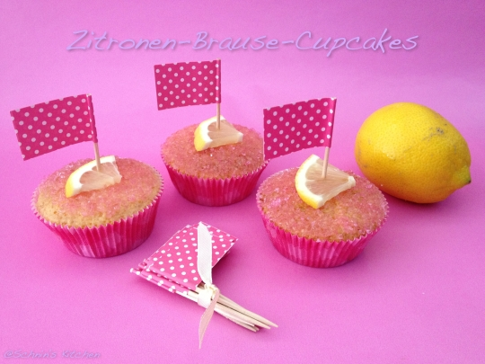 "Schnin's Kitchen: Lovelylisciousbox ""A Perfect Summerday"" Zitronen-Brause-Cupcakes"