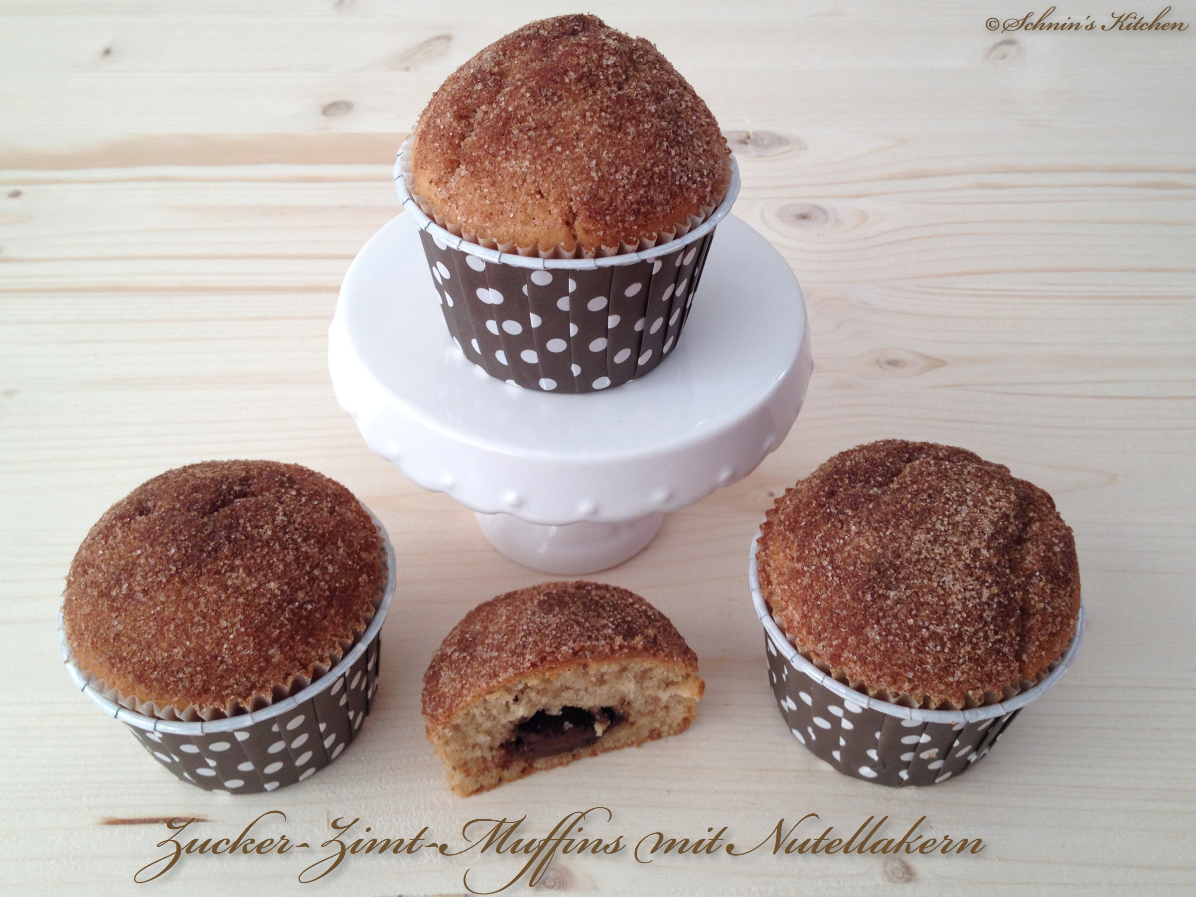 frustbacken zucker zimt muffins mit nutellakern schnin 39 s kitchen. Black Bedroom Furniture Sets. Home Design Ideas