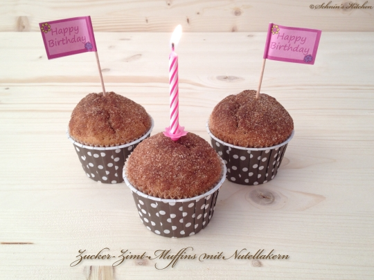 Schnin's Kitchen: Zucker-Zimt-Muffins mit Nutellakern
