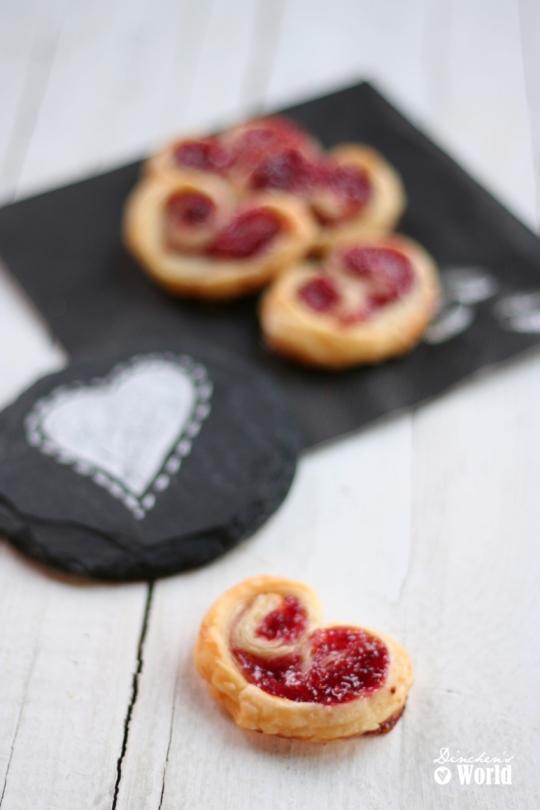 Schnin's Kitchen: Gastpost von 'Dinchen's World': Blätterteig-Herzen