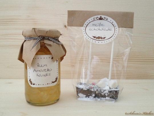 Schnin's Kitchen: Heiße Weihnachts-Schokolade am Stiel & Rum-Amaretto-Kandiszucker