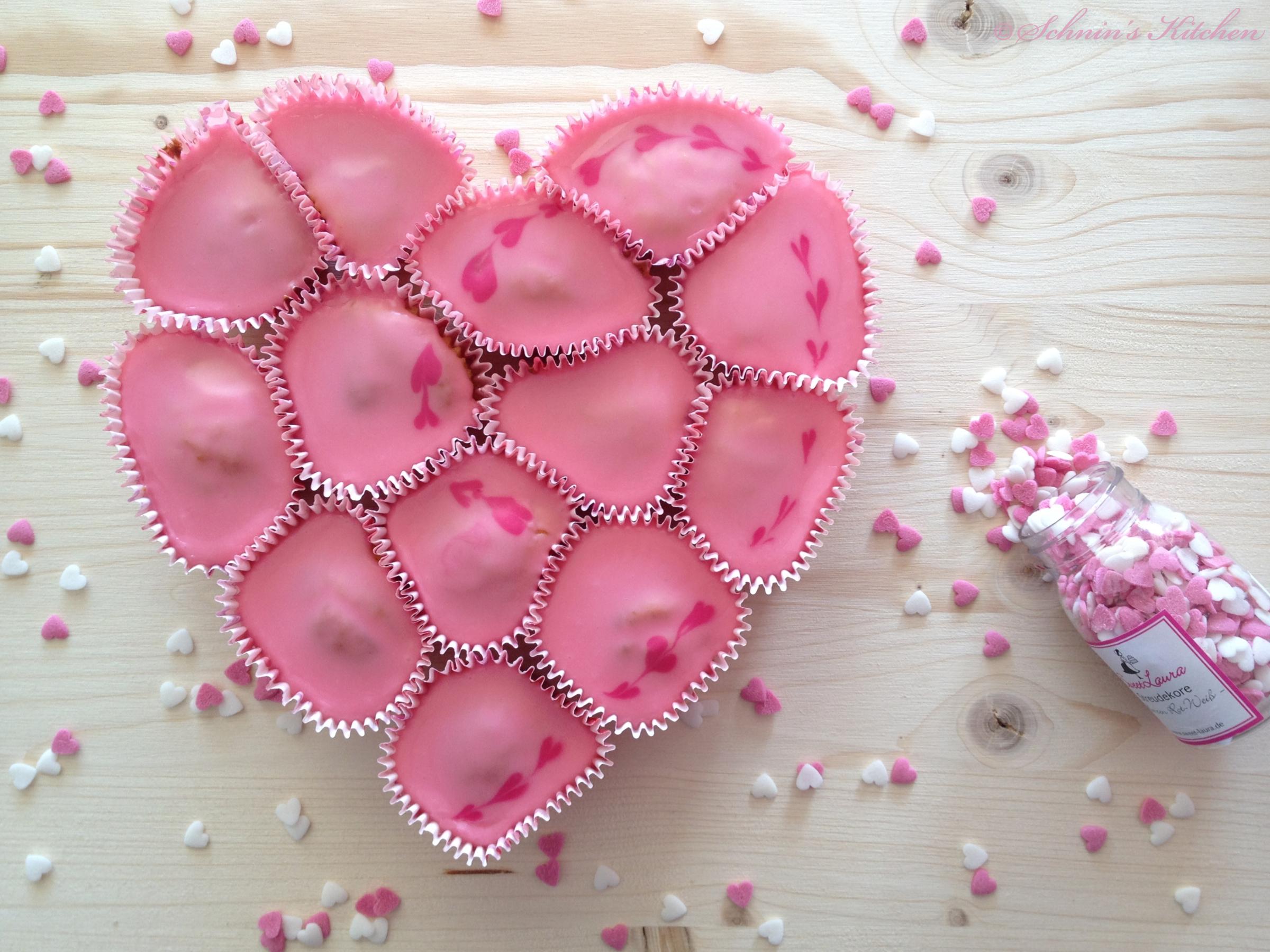Brownies Zum Valentinstag Cupcake Herz Kuchen