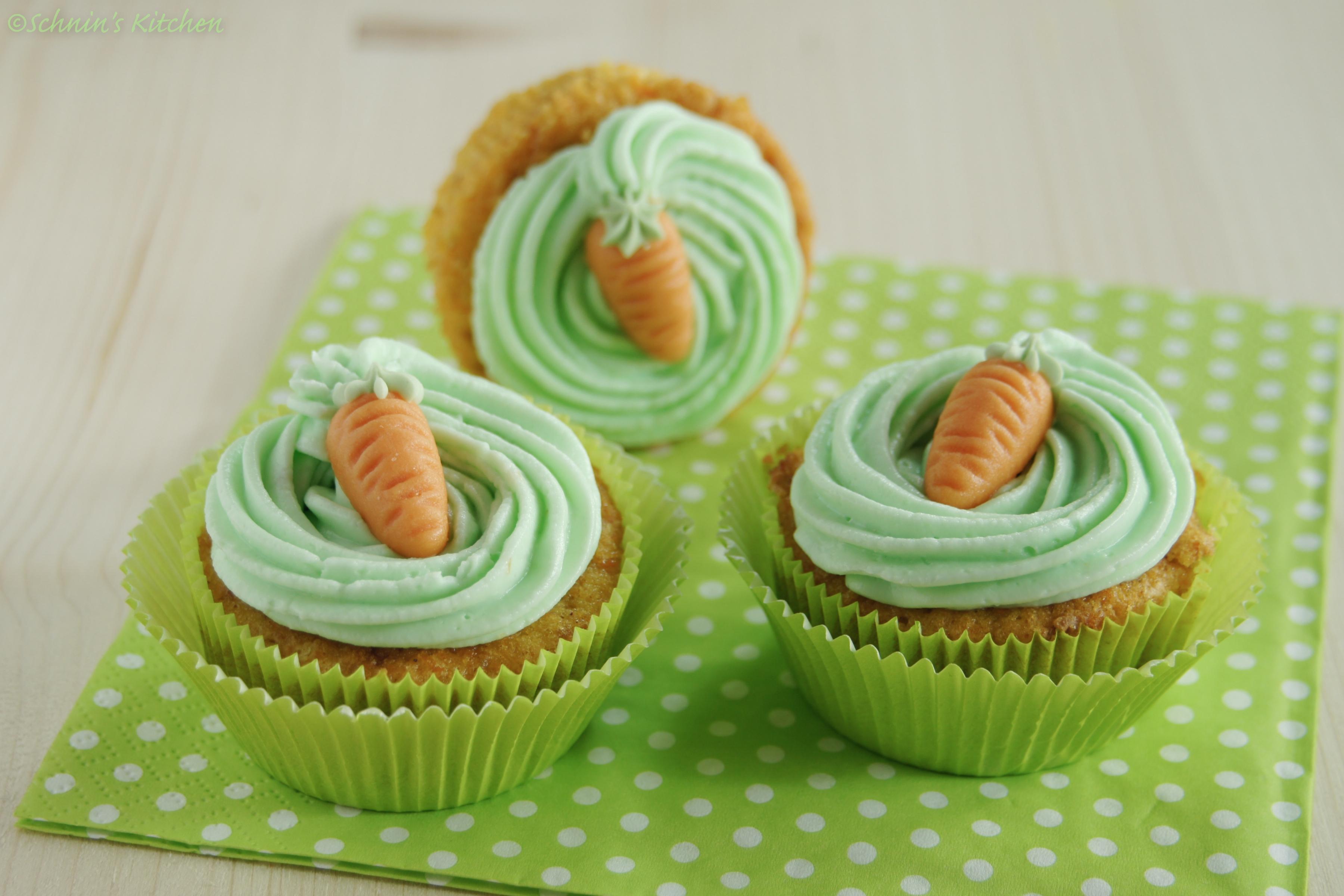 Möhren-Orangen-Cupcakes