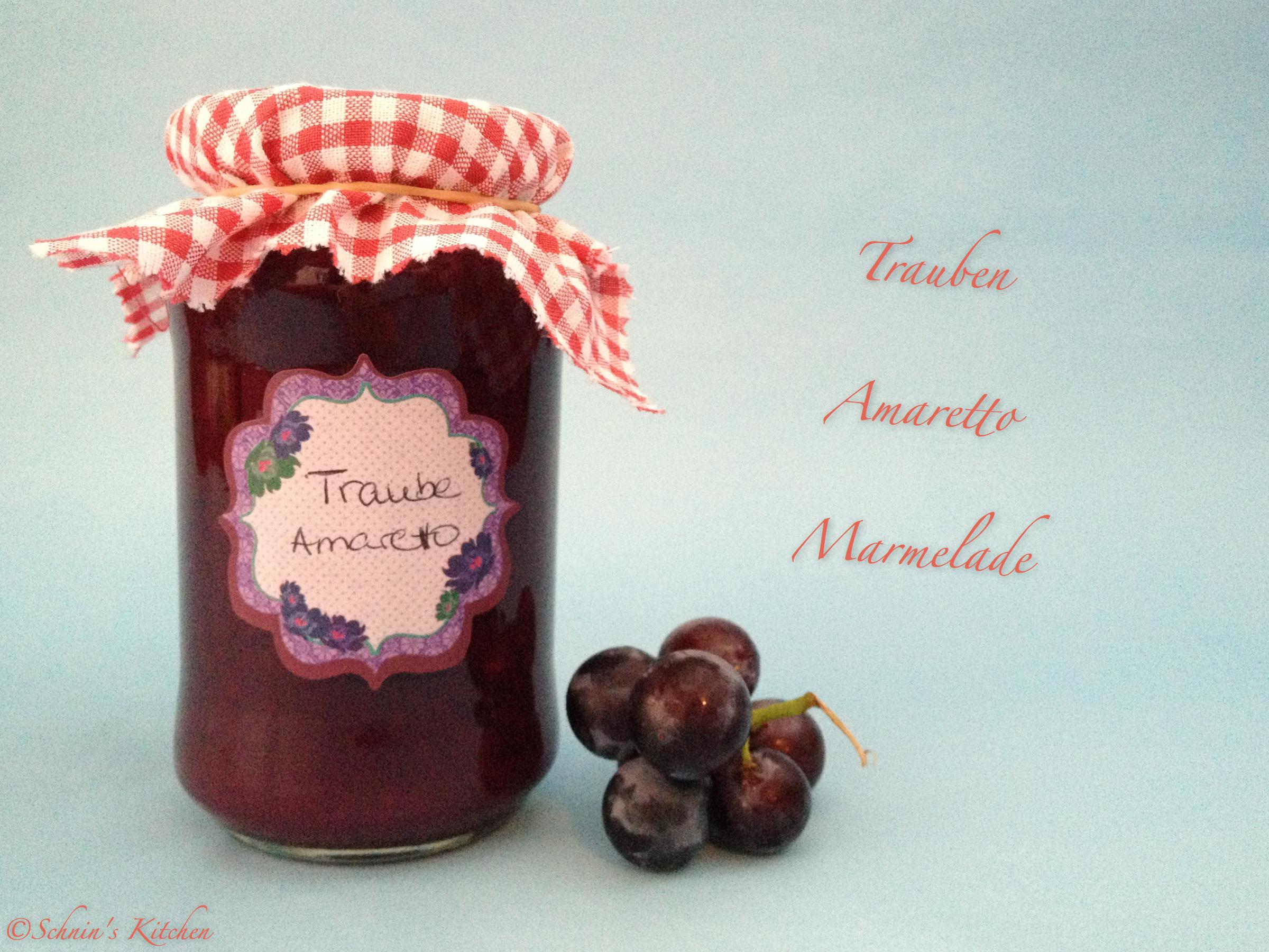 Schnin's Kitchen: Trauben-Amaretto-Marmelade