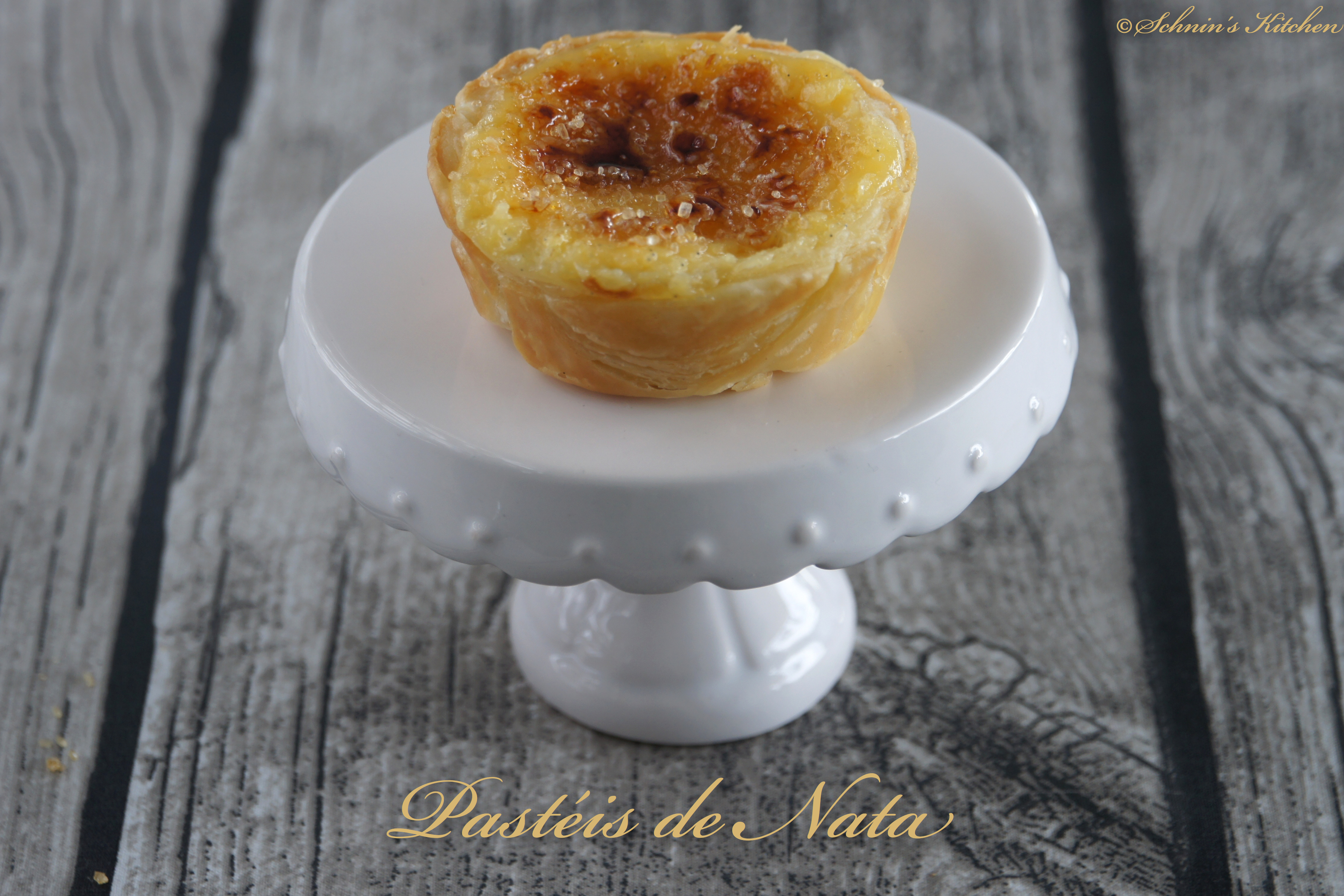 Pasteis De Nata Portugiesische Vanilletortchen Schnin S Kitchen