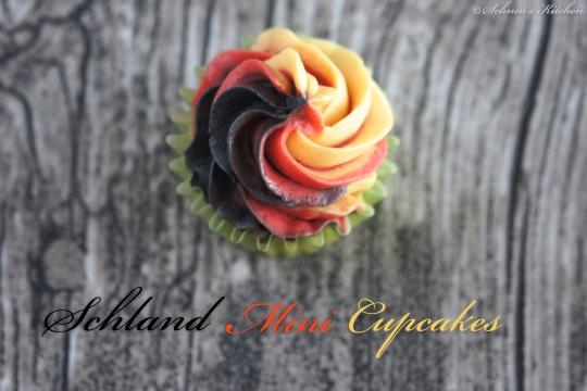 Schnin's Kitchen: Schland-Mini-Cupcakes mit Mascarpone-Buttercreme-Frosting (im WM-Fieber)