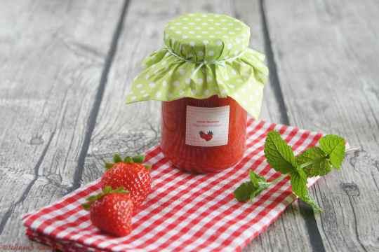 Schnin's Kitchen: Marmelade - Erdbeere küßt Hugo