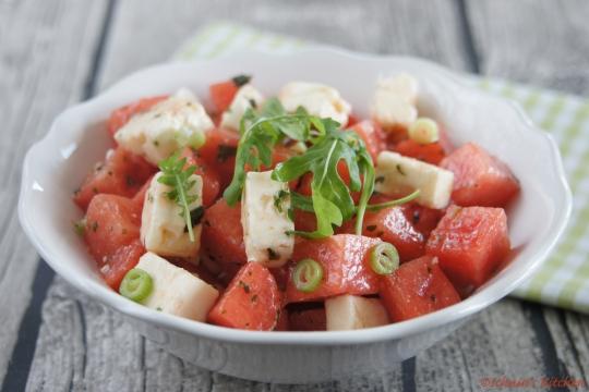Schnin's Kitchen: Wassermelonen-Feta-Salat mit frischer Minze