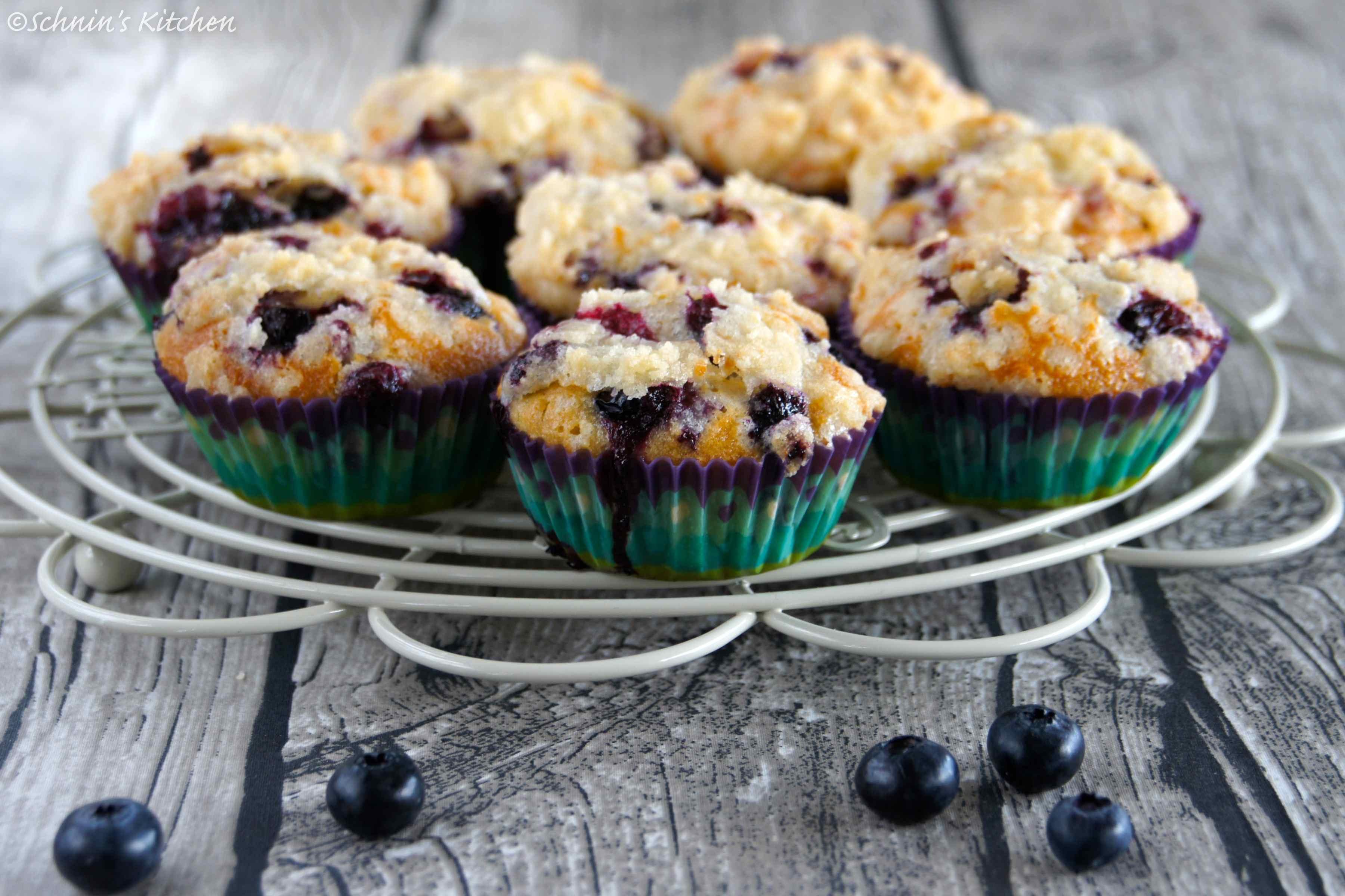 Fluffig Saftig Knusprig Blaubeer Butter Streusel Muffins
