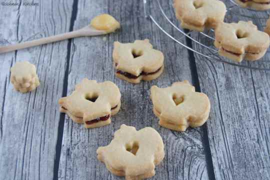 Schnin's Kitchen: Tea Time - Shortbread-Cookies mit Lemon Curd & Marmeladenfüllung